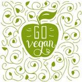 Går strikt vegetarianklotterillustrationen Arkivbild