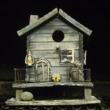 gård för white för USA för hus för tillbaka färg för fågel blå hängande röd Arkivfoto