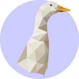 Gås i en polygonstil Modeillustration av trenden i s Arkivbild