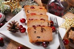 Gåspate med tranbär för jul Arkivfoton