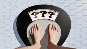 Gåta för viktförlust vektor illustrationer