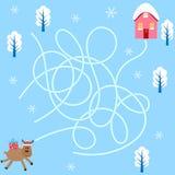 Gåtaleken finner väghjortarna, jul Fotografering för Bildbyråer