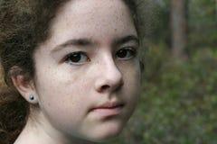 gåtfullt flickabarn Royaltyfri Bild