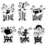 gåvaöverrrakning stock illustrationer