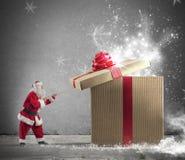 Gåva av Santa Claus Arkivbild