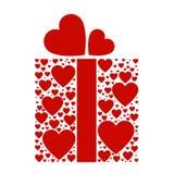 Gåva boxas av förälskelse arkivbilder