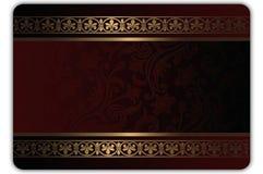 Gåva- eller kreditkortmall Royaltyfri Fotografi