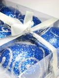 gåva för 7 blue Arkivbild