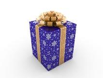 gåva för blå ask Royaltyfria Bilder