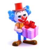 gåva för clown 3d Arkivbilder
