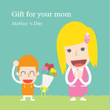 Gåva för din mamma Royaltyfri Fotografi