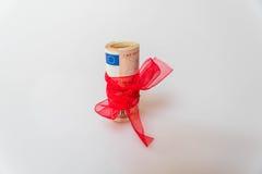 gåva för euro 50 Fotografering för Bildbyråer