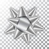 Gåva för gåvan för garnering för satäng för färg för packen för beståndsdelen för dekoren för silverpilbågebandet 3d isolerade sk vektor illustrationer