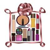 Gåva med parfymeriaffären och skönhetsmedel Arkivfoto