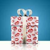 Gåva och kyss Arkivbilder