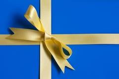 gåva slågna in sweden Arkivfoto