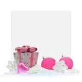 Gåvaask och rosa färgjul royaltyfri foto
