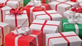 Gåvaaskar för jul eller andra händelser lager videofilmer