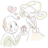 gåvaförälskelse stock illustrationer