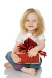 gåvaflicka Royaltyfria Bilder