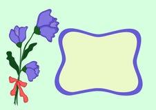Gåvakort med blomman Arkivfoton