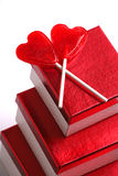 gåvalollypops två valentiner Royaltyfri Fotografi