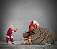 Gåvapåse av Santa Claus Royaltyfria Bilder