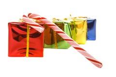 gåvor för godisrottingjul Arkivfoto