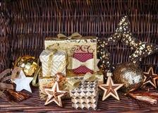 Gåvor för jul Fotografering för Bildbyråer