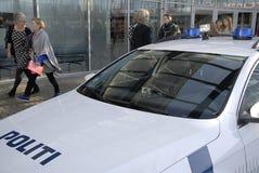 GÅVOR FÖR KÖPENHAMNBOK FAIR-2015_POLICE Arkivfoton