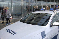 GÅVOR FÖR KÖPENHAMNBOK FAIR-2015_POLICE Royaltyfria Bilder