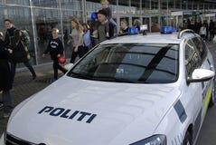 GÅVOR FÖR KÖPENHAMNBOK FAIR-2015_POLICE Fotografering för Bildbyråer