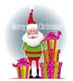 Gåvor från Santa Claus Arkivbilder