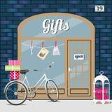 Gåvor shoppar royaltyfri illustrationer