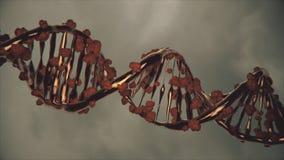 Gène éditant le traitement changeant un brin d'ADN illustration libre de droits