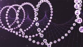 Gène social d'ADN de réseau illustration libre de droits