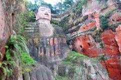 Géant Bouddha de Leshan Photo libre de droits