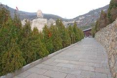 Géant Bouddha de Mengshan Photos libres de droits