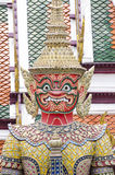 Géant dans Wat Phra Kaew Bangkok, Thaïlande images libres de droits