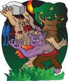 Géant de combat d'ogre illustration de vecteur