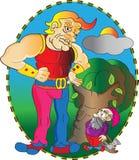 Géant et nain illustration libre de droits