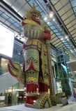 Géant le gardien à l'aéroport international de Suvarnabhumi Photos libres de droits