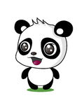 Géant Panda Cartoon Vector Illustration Photos stock