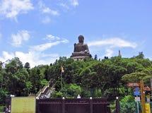 Géant Tian Tan Buddha dans Lantau, Hong Kong Photos libres de droits