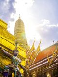 Géant Wat Phra Kaew Temple à Bangkok Thaïlande photographie stock