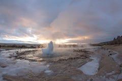 Géiser de Islandia Foto de archivo libre de regalías