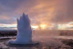 Géiser de Islandia imagen de archivo