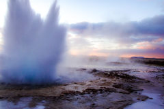 Géiser de Islandia Foto de archivo