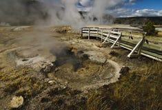 Géiser en el parque nacional de Yellowstone Imagen de archivo