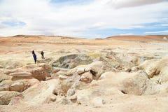 Géiser en Uyuni, Bolivia Foto de archivo